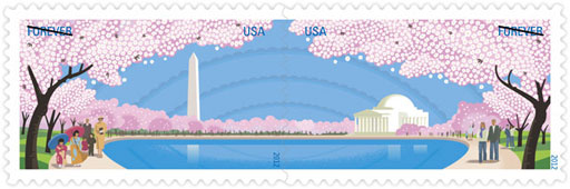 Cherry blossom stamps